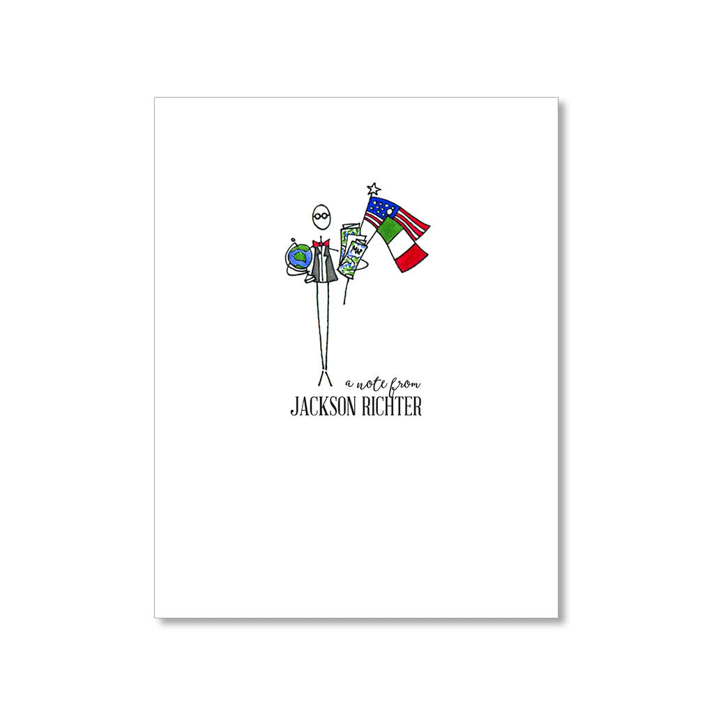 """THE INTERNATIONAL MAN"" PERSONALIZED STATIONERY"