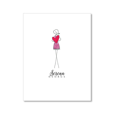 """LOVE"" PERSONALIZED STATIONERY"