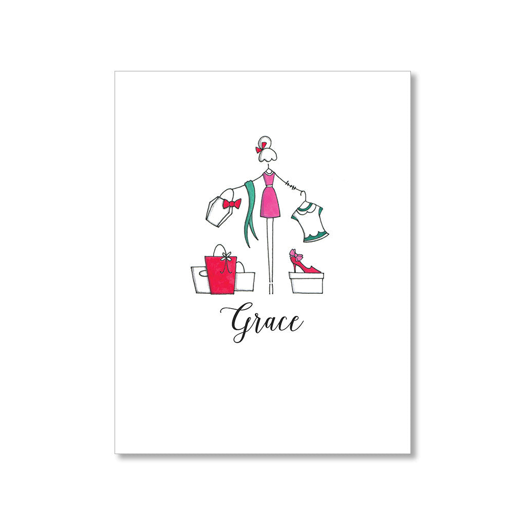 """SHOPAHOLIC"" PERSONALIZED STATIONERY"