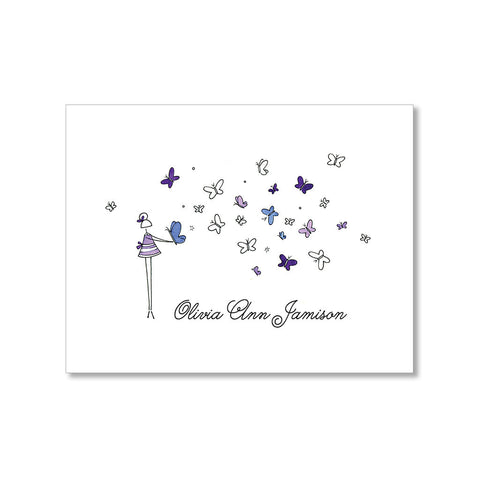 """BUTTERFLIES"" PERSONALIZED STATIONERY"