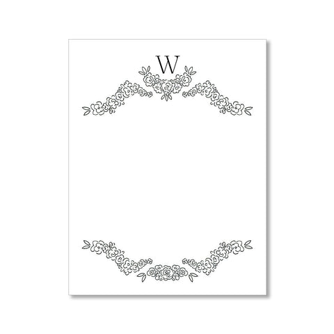"""FLORAL MONOGRAM: SMALL"" PERSONALIZED STATIONERY"