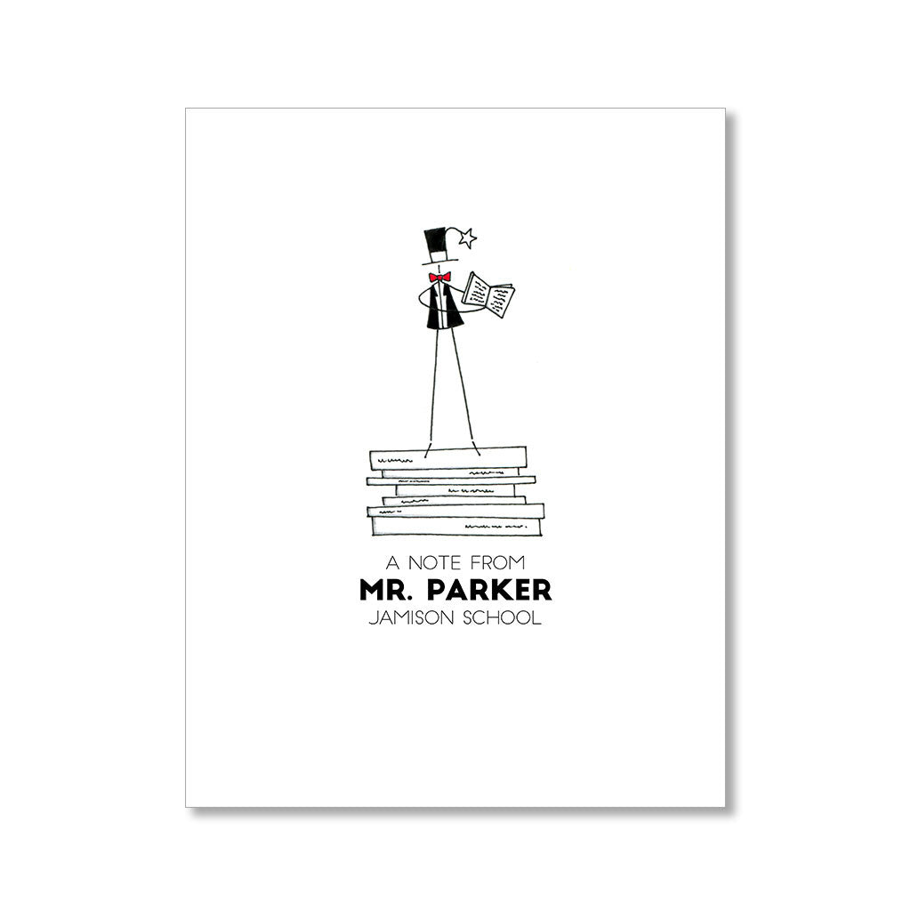 """READ TO ME: MISTER"" PERSONALIZED STATIONERY"
