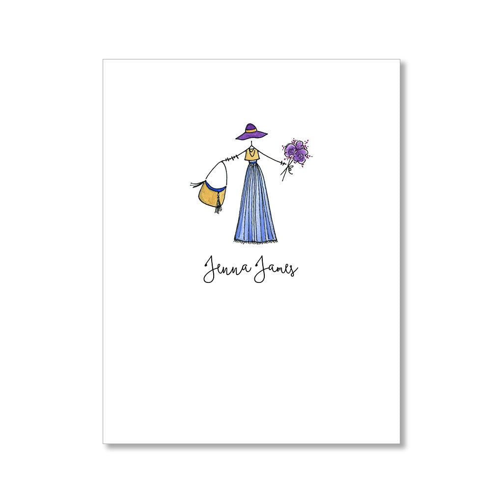 """BOHO"" PERSONALIZED STATIONERY"