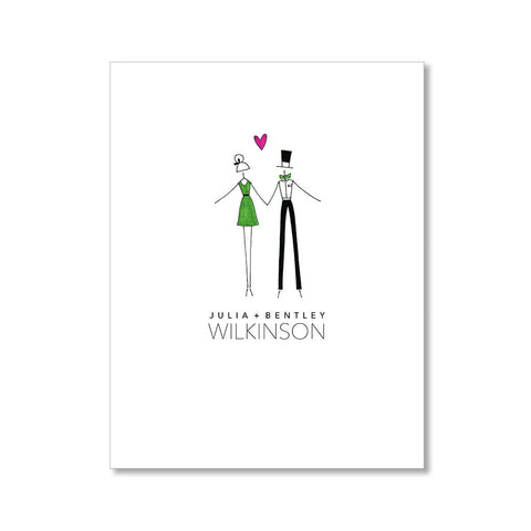 """WATERMELON TWINS"" BLANK CARD"