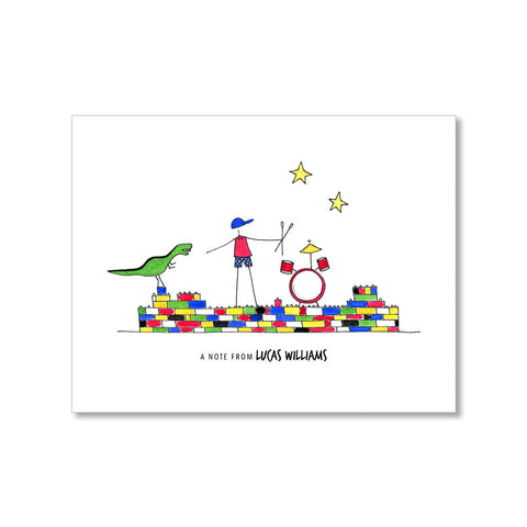 """ALL BOY"" PERSONALIZED STATIONERY"