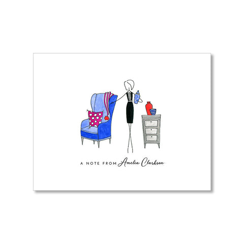 """THE DECORATOR"" PERSONALIZED STATIONERY"