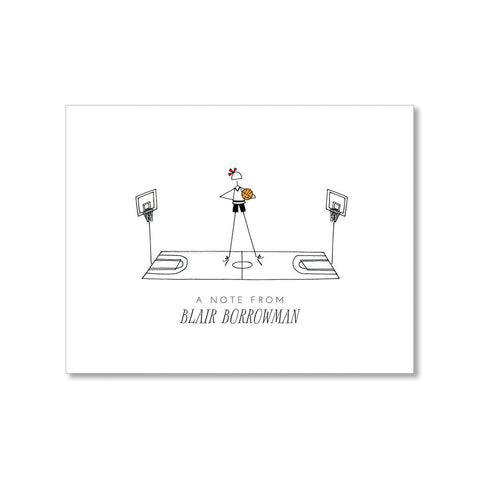 """THE BALLER"" PERSONALIZED STATIONERY"