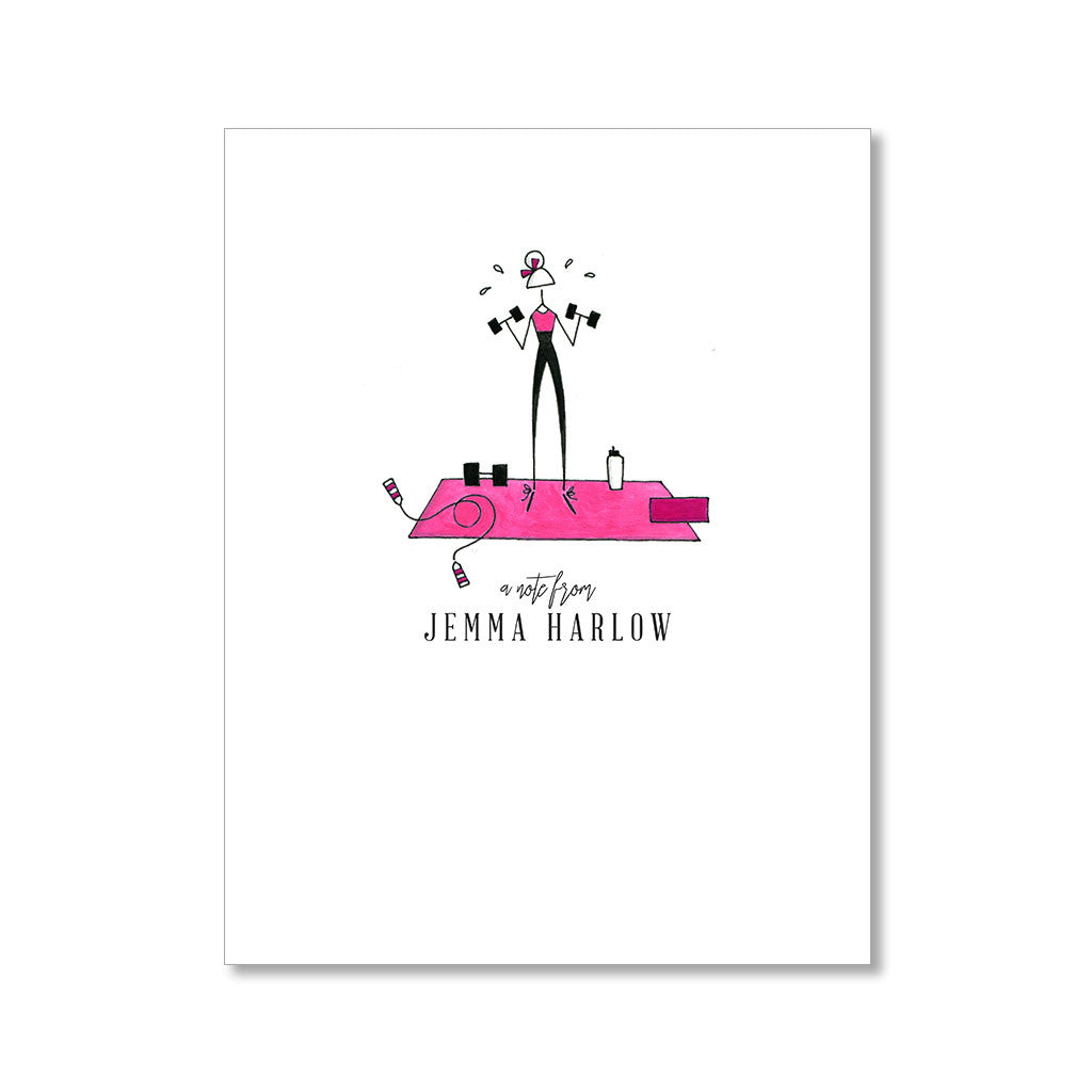 """FITNESS FIEND"" PERSONALIZED STATIONERY"