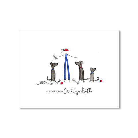 """THE DOG LOVER"" PERSONALIZED STATIONERY"