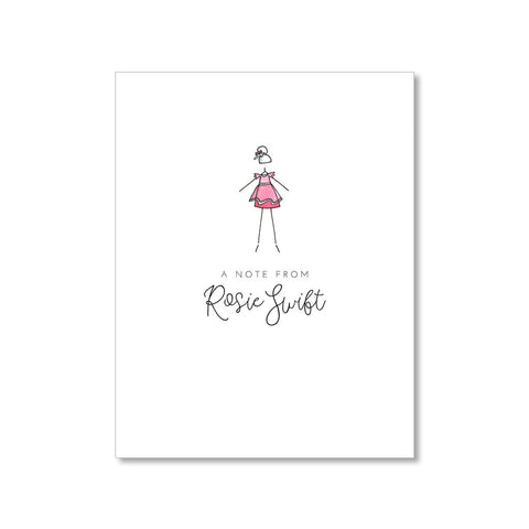 """LITTLE BALLERINA: PINK PETAL"" PERSONALIZED STATIONERY"