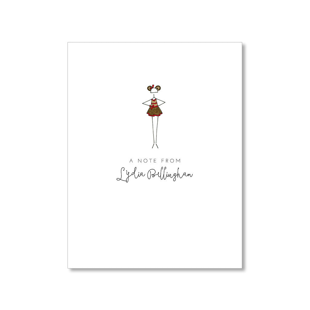 """LITTLE BALLERINA: MONKEY SEE, MONKEY DO"" PERSONALIZED STATIONERY"