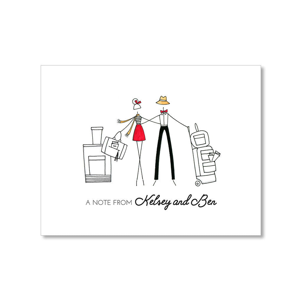 """TRAVELING TOGETHER"" PERSONALIZED STATIONERY"