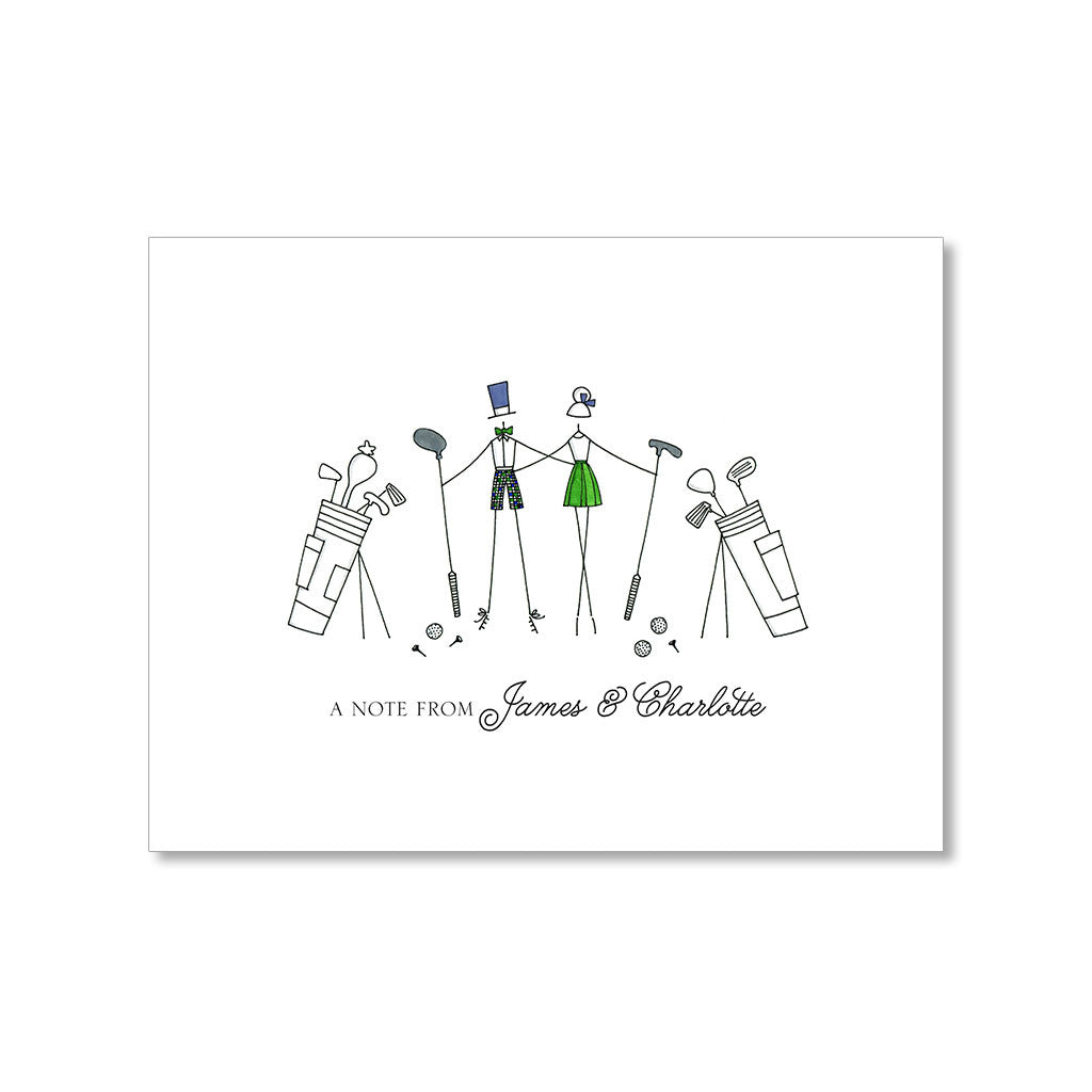"""ON THE COURSE"" PERSONALIZED STATIONERY"
