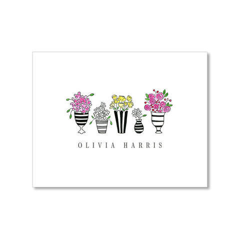 """FLORALS"" PERSONALIZED STATIONERY"