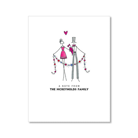 """LITTLE BABY GIRL"" PERSONALIZED STATIONERY"