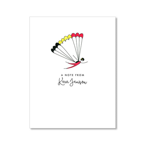 """SKYDIVING"" PERSONALIZED STATIONERY"