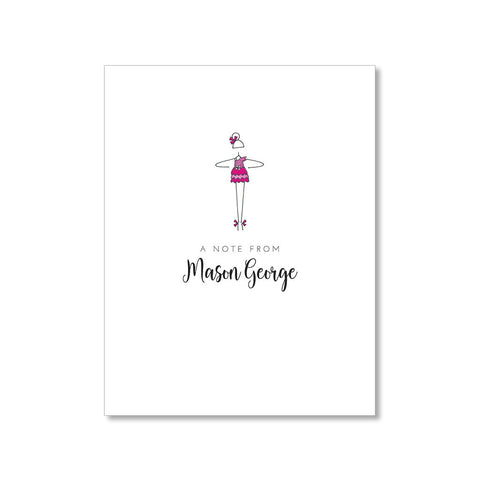 """LITTLE BALLERINA: PINK PRINCESS"" PERSONALIZED STATIONERY"