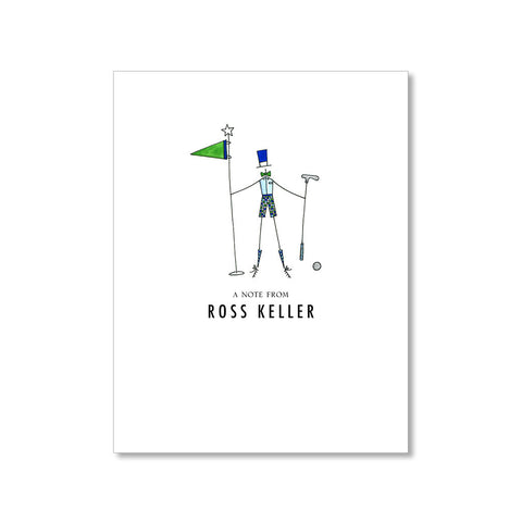 """THE GOLFING GUY"" PERSONALIZED STATIONERY"