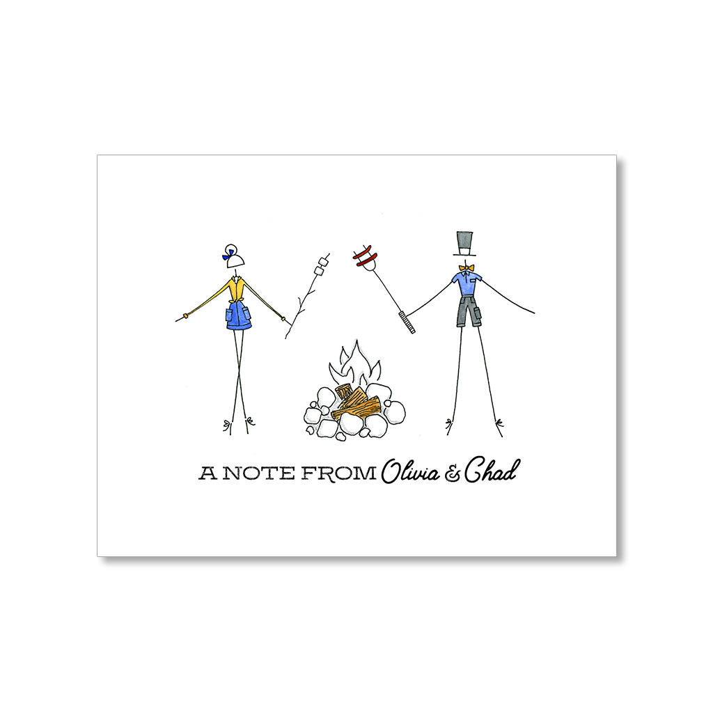 """HAPPY CAMPERS"" PERSONALIZED STATIONERY"