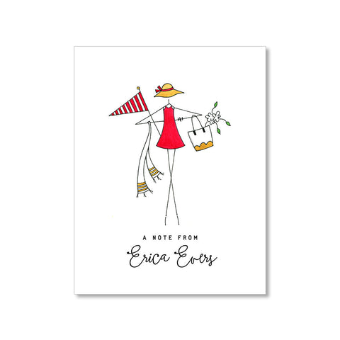 """ERICA"" PERSONALIZED STATIONERY"
