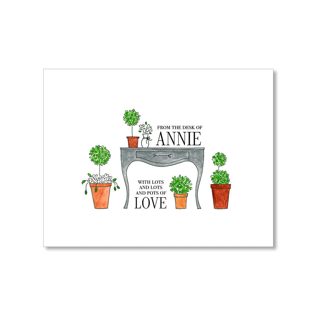 """POTS OF LOVE"" PERSONALIZED STATIONERY"