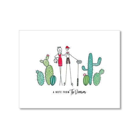 """IN THE DESERT"" PERSONALIZED STATIONERY"