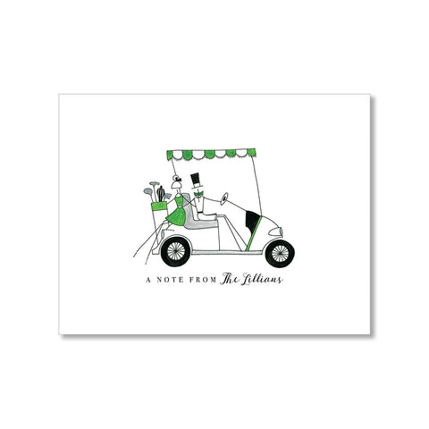 """GOLF CART"" PERSONALIZED STATIONERY"