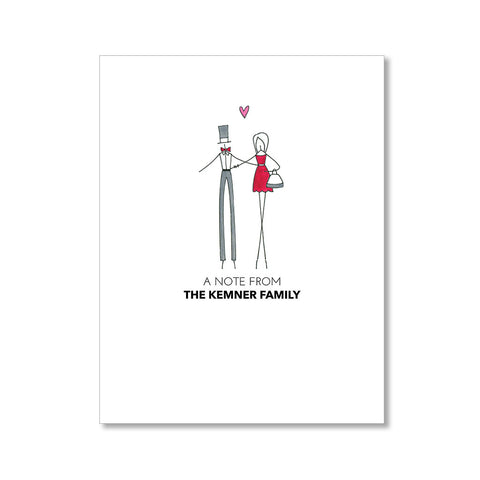"""ERIN'S FAMILY"" PERSONALIZED STATIONERY"