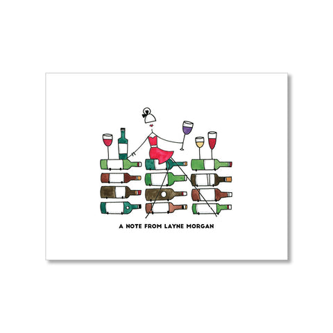 """IN THE CELLAR: MISSES"" PERSONALIZED STATIONERY"