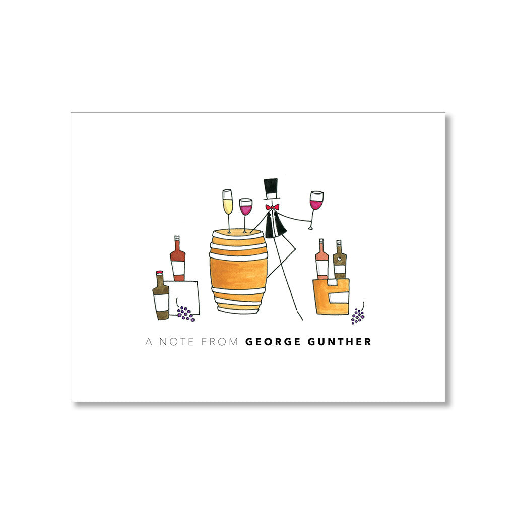 """SOMMELIER: MISTER"" PERSONALIZED STATIONERY"