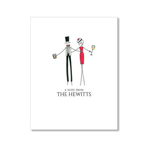 """THE SOCIALITES"" PERSONALIZED STATIONERY"
