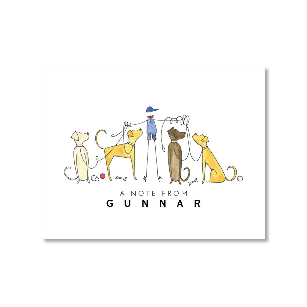 """WITH DOGS"" PERSONALIZED STATIONERY"