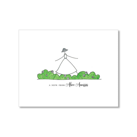 """STROLLING"" PERSONALIZED STATIONERY"