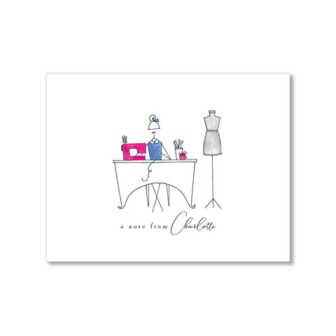 """THE SEAMSTRESS"" PERSONALIZED STATIONERY"