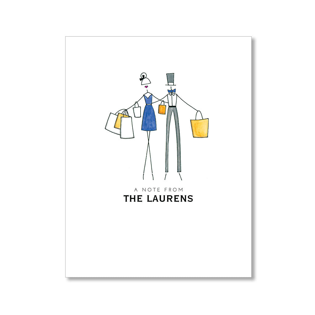 """SUPER SHOPPERS"" PERSONALIZED STATIONERY"