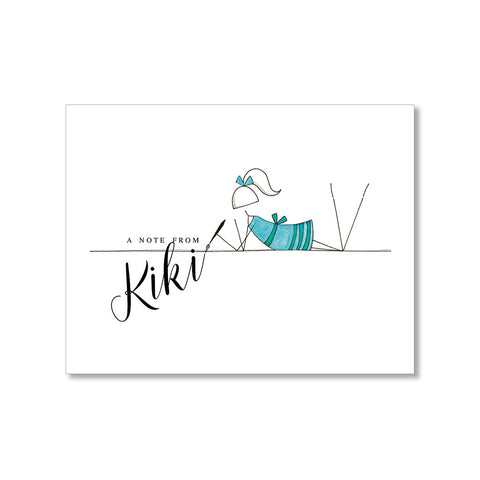 """CALLIGRAPHY"" PERSONALIZED STATIONERY"