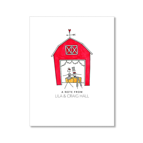 """RED BARN"" PERSONALIZED STATIONERY"