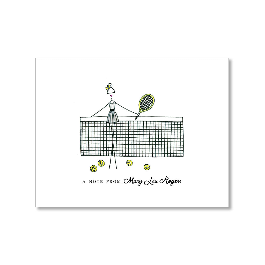"""TENNIS: MISSES"" PERSONALIZED STATIONERY"