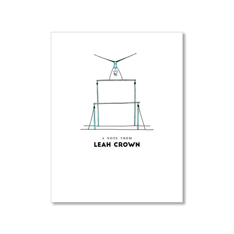 """THE GYMNAST: MISSES"" PERSONALIZED STATIONERY"