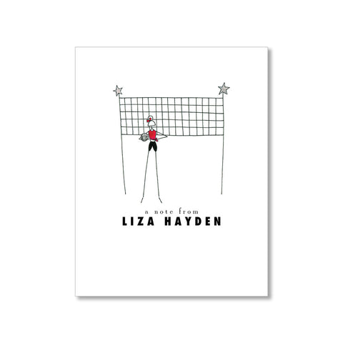 """VOLLEYBALL: MISSES"" PERSONALIZED STATIONERY"