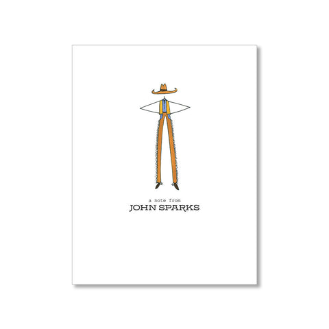 """COWBOY"" PERSONALIZED STATIONERY"