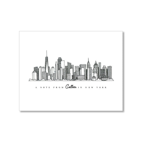 """NEW YORK SKYLINE"" PERSONALIZED STATIONERY"