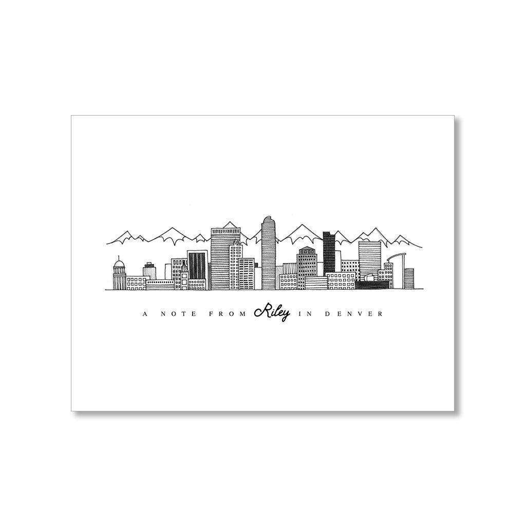 """DENVER SKYLINE"" PERSONALIZED STATIONERY"