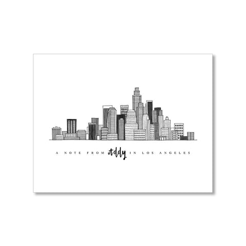 """LOS ANGELES SKYLINE"" PERSONALIZED STATIONERY"