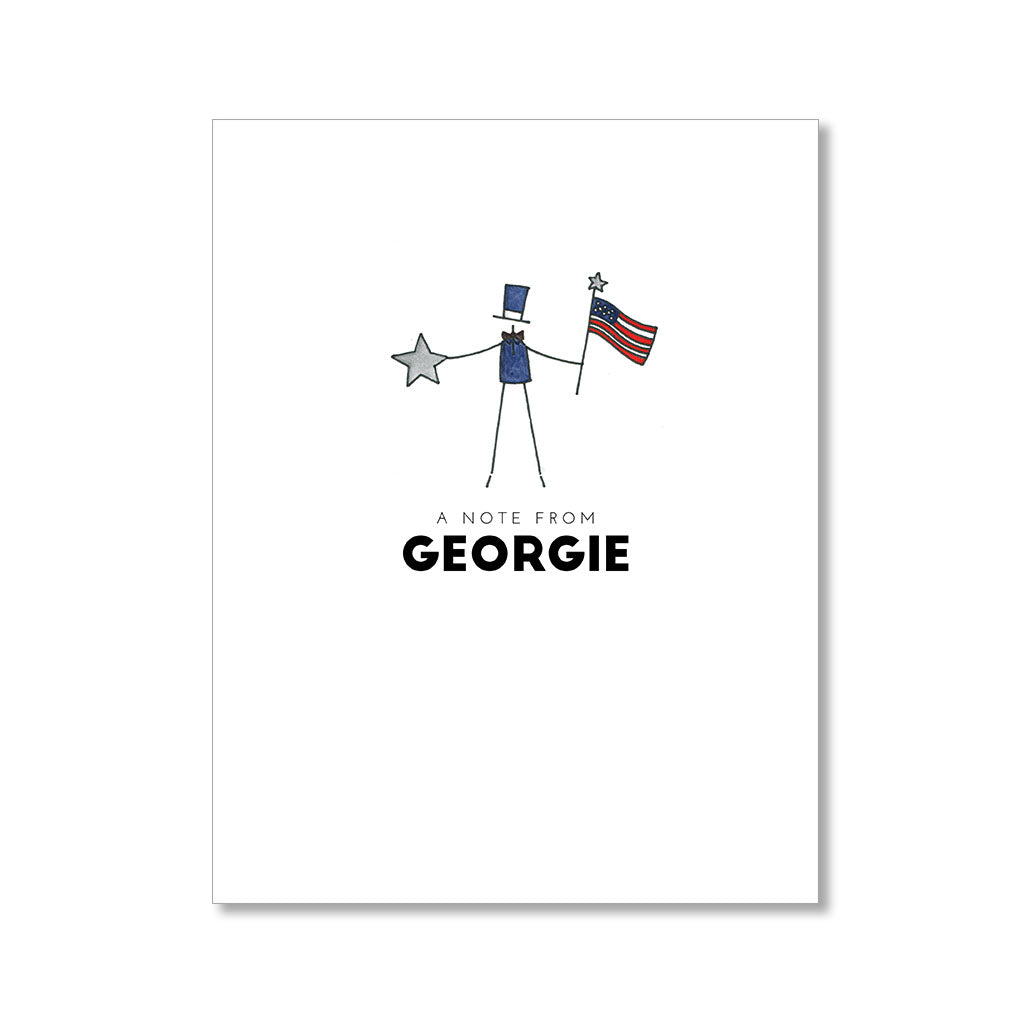 """PATRIOTIC LITTLE GUY"" PERSONALIZED STATIONERY"