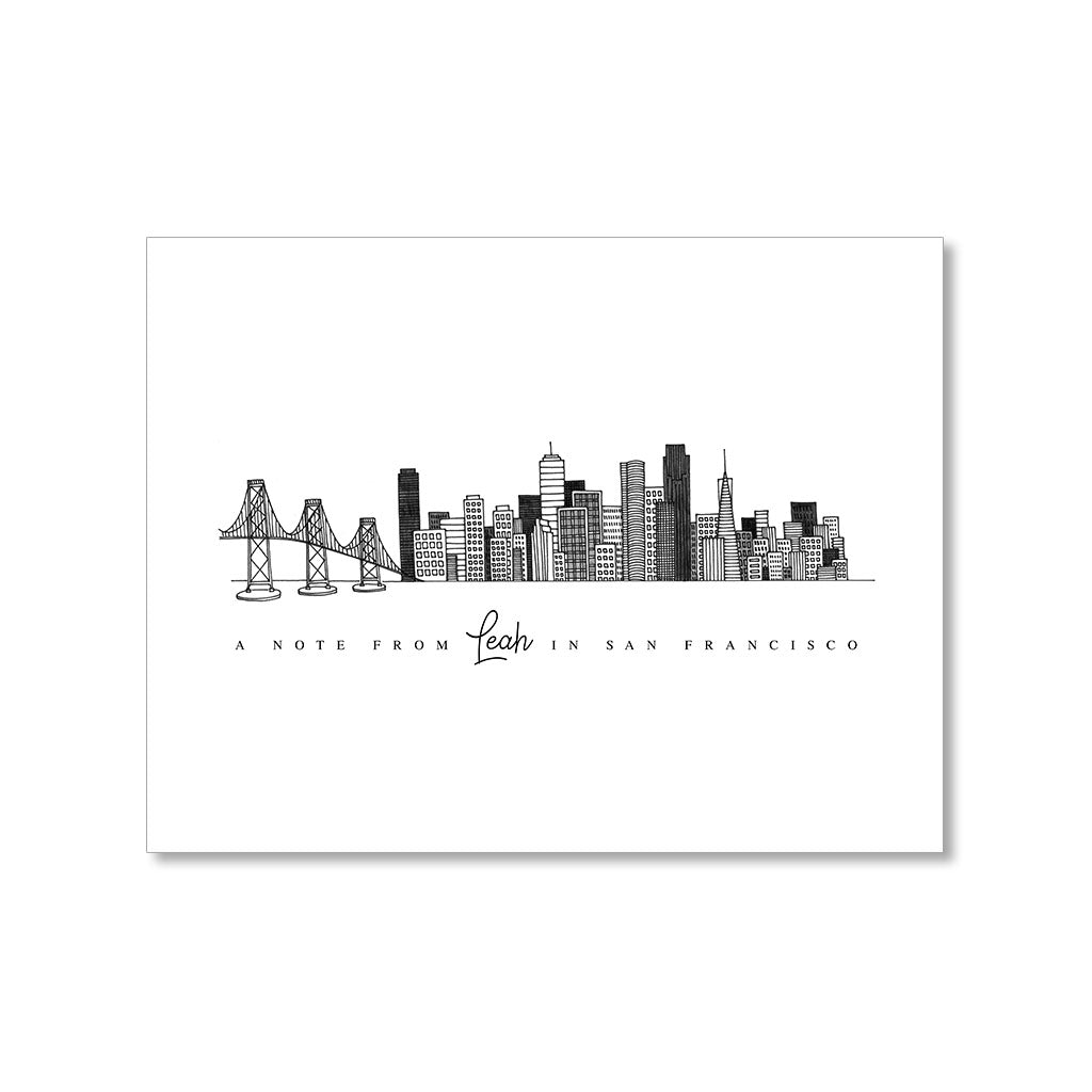 """SAN FRANCISCO SKYLINE"" PERSONALIZED STATIONERY"