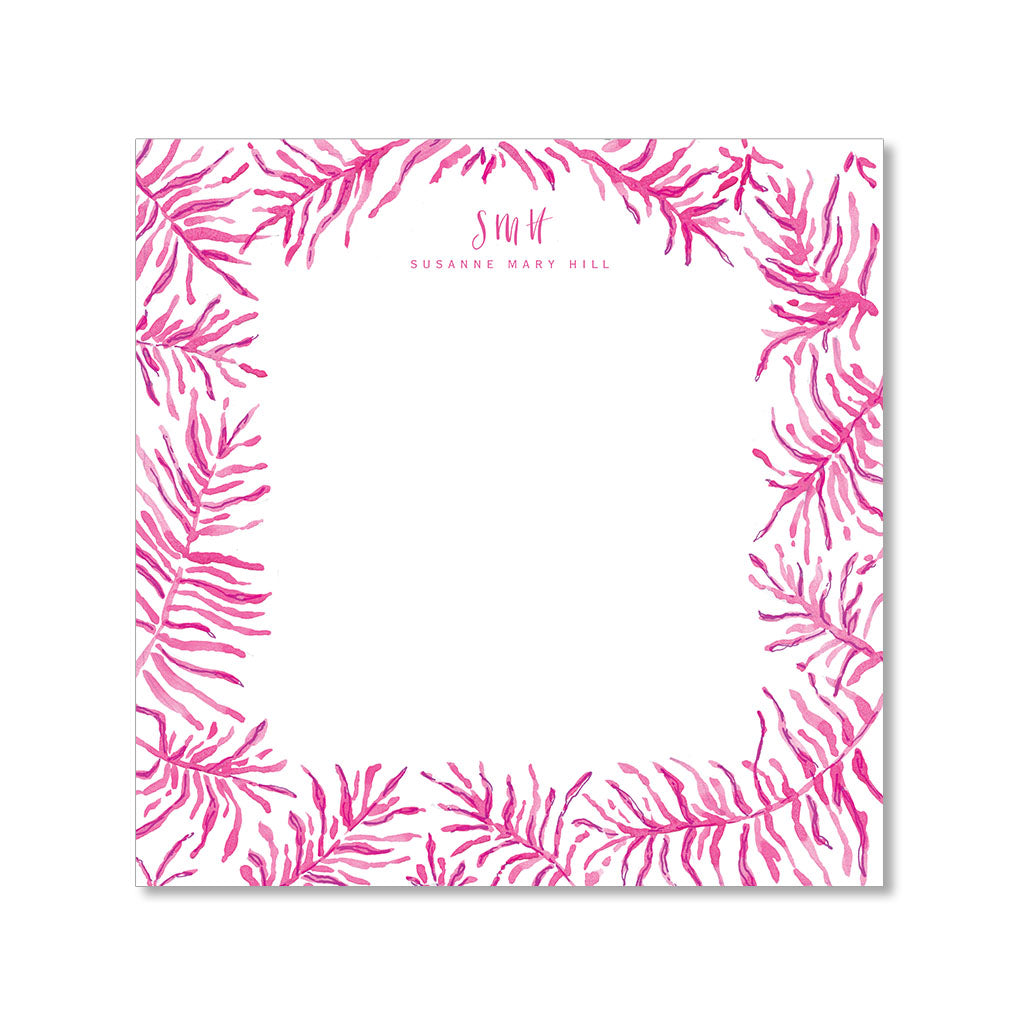 """PALM FRONDS"" PERSONALIZED STATIONERY"