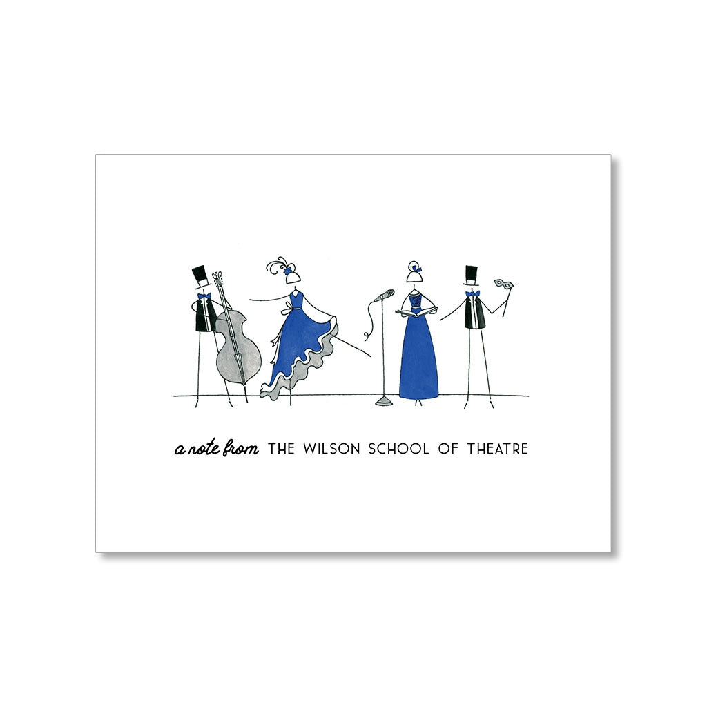 """FRIENDS OF THE PERFORMING ARTS"" PERSONALIZED STATIONERY"