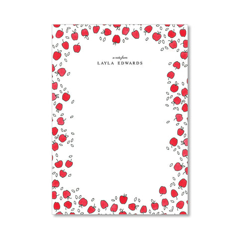 """APPLE ORCHARD"" PERSONALIZED STATIONERY"