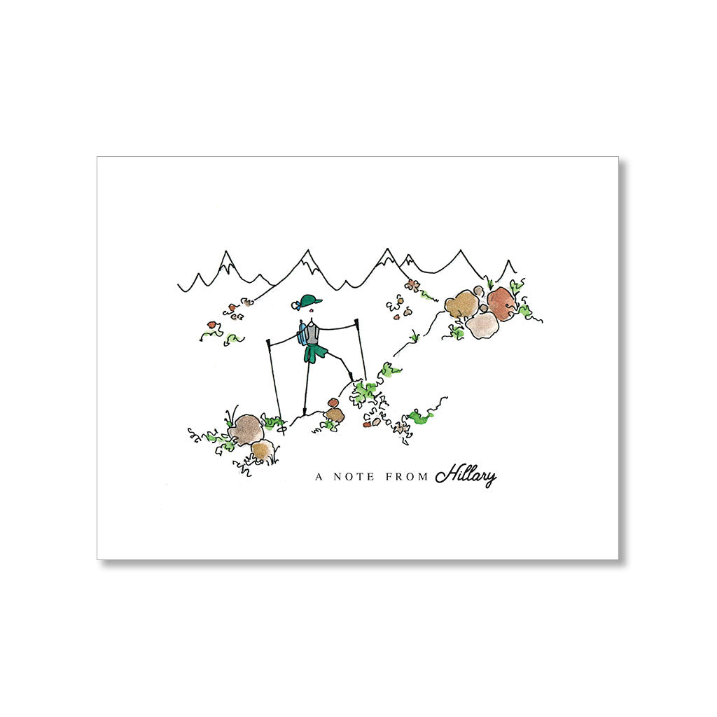 """ON A HIKE"" PERSONALIZED STATIONERY"